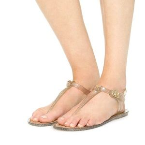 Kate Spade Yari Jelly Sandals in Glitter Gold
